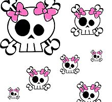 Pink Skulls by Gypsykiss