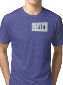 government plates - death grips Tri-blend T-Shirt