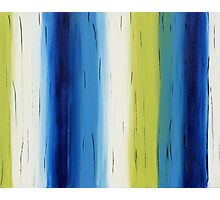 Timbers - blue green - abstract Photographic Print