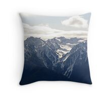 """Olympic Snow"" Throw Pillow"