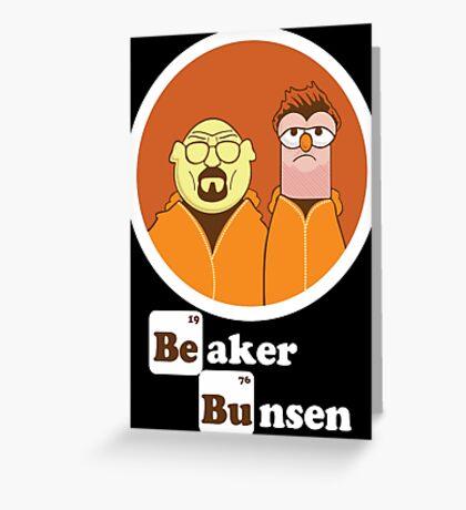 Beaker Bunsen Breaking Bad Greeting Card
