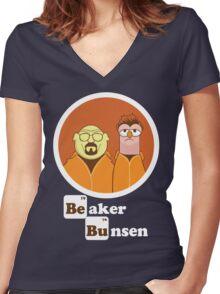 Beaker Bunsen Breaking Bad Women's Fitted V-Neck T-Shirt