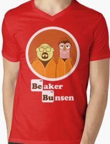 Beaker Bunsen Breaking Bad Mens V-Neck T-Shirt