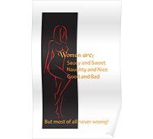 Women are never wrong! Poster
