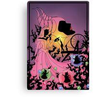 Silhouette Aurora Canvas Print