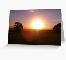 lens flare  Greeting Card