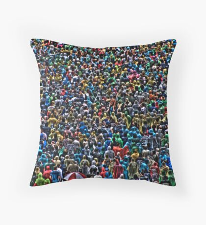 All of my people - The Raincoat Brigade Throw Pillow