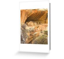Monarch Cave Ruins, Utah Greeting Card