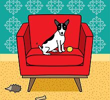Rat Terrier Square by dreamingdogs