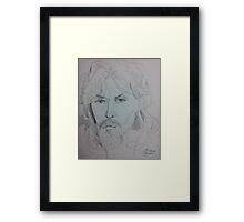 SELF INK PEN DRAWING(C1996) Framed Print
