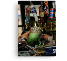 Green Beer Canvas Print