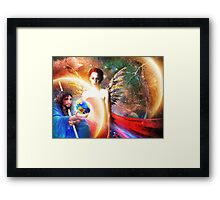 What Destiny, the Earth? Framed Print