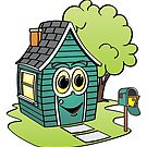 Green House Cartoon by Graphxpro