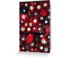 Red, red and more red (Japanese fabric) Greeting Card