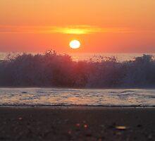 Ocean City Sunrise Over The Waves by robertjbanach