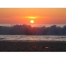 Ocean City Sunrise Over The Waves Photographic Print
