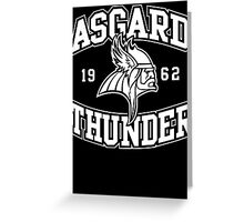 Asgard Thunder Football Greeting Card