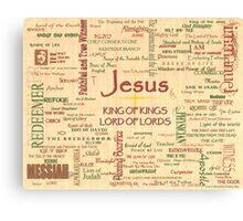 Jesus, Biblical References (page 1) Canvas Print