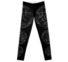 Human transmutation circle - chalk Leggings