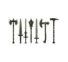 Skyrim - Steel Weapons [no background] Photographic Print
