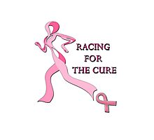 Racing for the Cure Pink Photographic Print