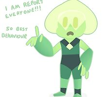Peridot Will Report! by vogelchan