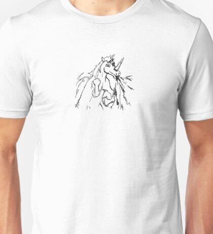 Flamethrowing unicorn Unisex T-Shirt