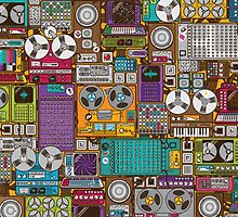 Electronic 80's Retro Devices by HavenDesign