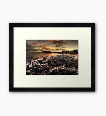 Saltwater beach Framed Print