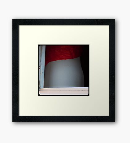 Peek 02 Framed Print