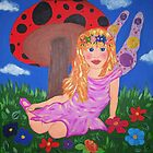 painting on canvas on relaxing fairy by allycpr29
