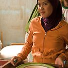 Market Girl - Lombok, Indonesia by Stephen Permezel