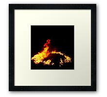DRAGON FLAMES ! Framed Print