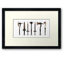 Skyrim - Dragonbone Weapons [no background] Framed Print