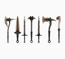 Skyrim - Dragonbone Weapons [no background] Kids Clothes
