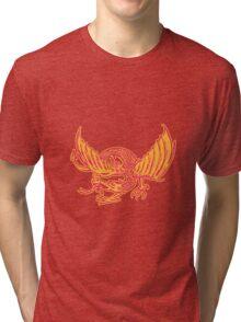 Dragon Medieval Front Etching Tri-blend T-Shirt