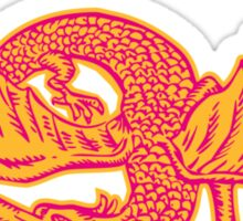 Dragon Medieval Front Etching Sticker