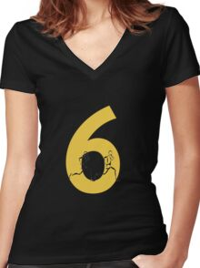 Running Through The Six Women's Fitted V-Neck T-Shirt