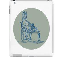 Horse and Jockey Harness Racing Etching iPad Case/Skin