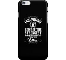 God Found Some Of The Strongest Women And Unleashed Them To Be knitter - Tshirts & Hoodies iPhone Case/Skin