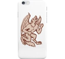 Kludde Black Dog Howling Etching iPhone Case/Skin