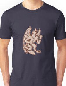 Kludde Black Dog Howling Etching Unisex T-Shirt