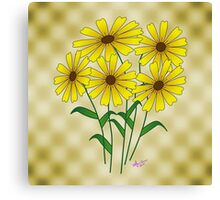 Yellow Flowers on Gold  Canvas Print