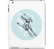 Skiing Slalom Circle Etching iPad Case/Skin