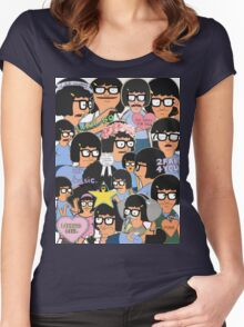 when your scrolling tumblr and... Women's Fitted Scoop T-Shirt
