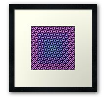 Fractal Fusion - In Aqua, Lilac and Pink Framed Print