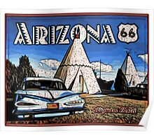 Wigwam Motel Route 66 Poster