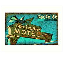 Motel Sign Route 66 Art Print