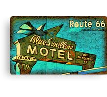 Motel Sign Route 66 Canvas Print