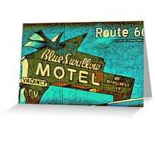 Motel Sign Route 66 Greeting Card